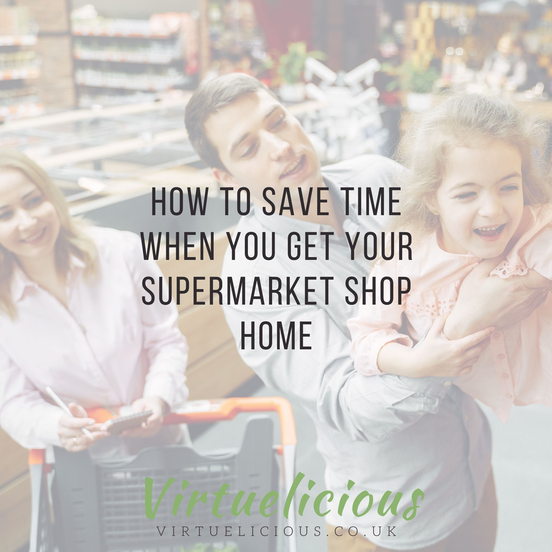 Unpacking your supermarket shop: meal prep